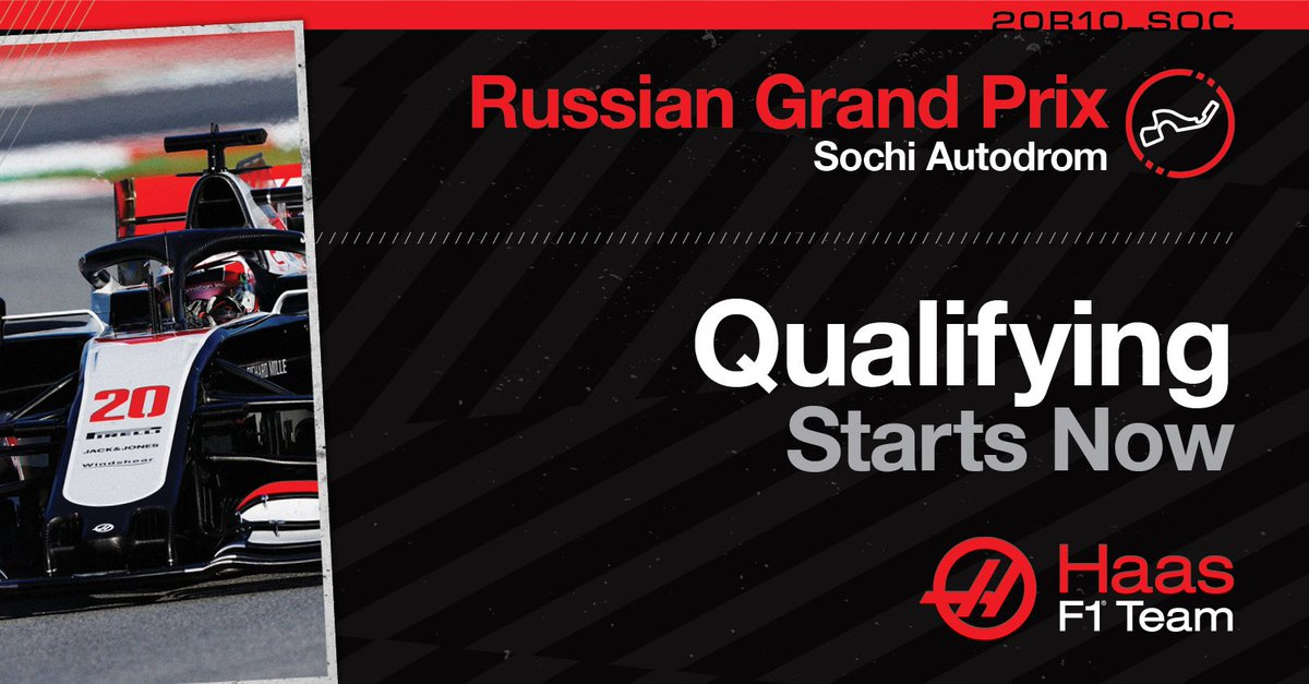 Q1 is underway 🇷🇺  #HaasF1 #RussianGP #Quali https://t.co/JRTEI6UzZT