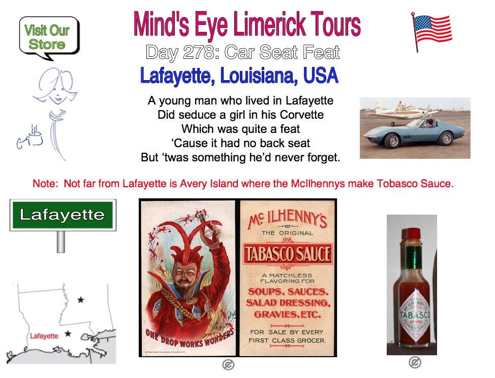 #Limerick #entertainment #humor #Tabasco #fun #Lafayette #Louisiana #Mcilhenny #AveryIsland https://t.co/v44b2ojURd https://t.co/u1rSJpfJB8 https://t.co/vQKzeOuPVv