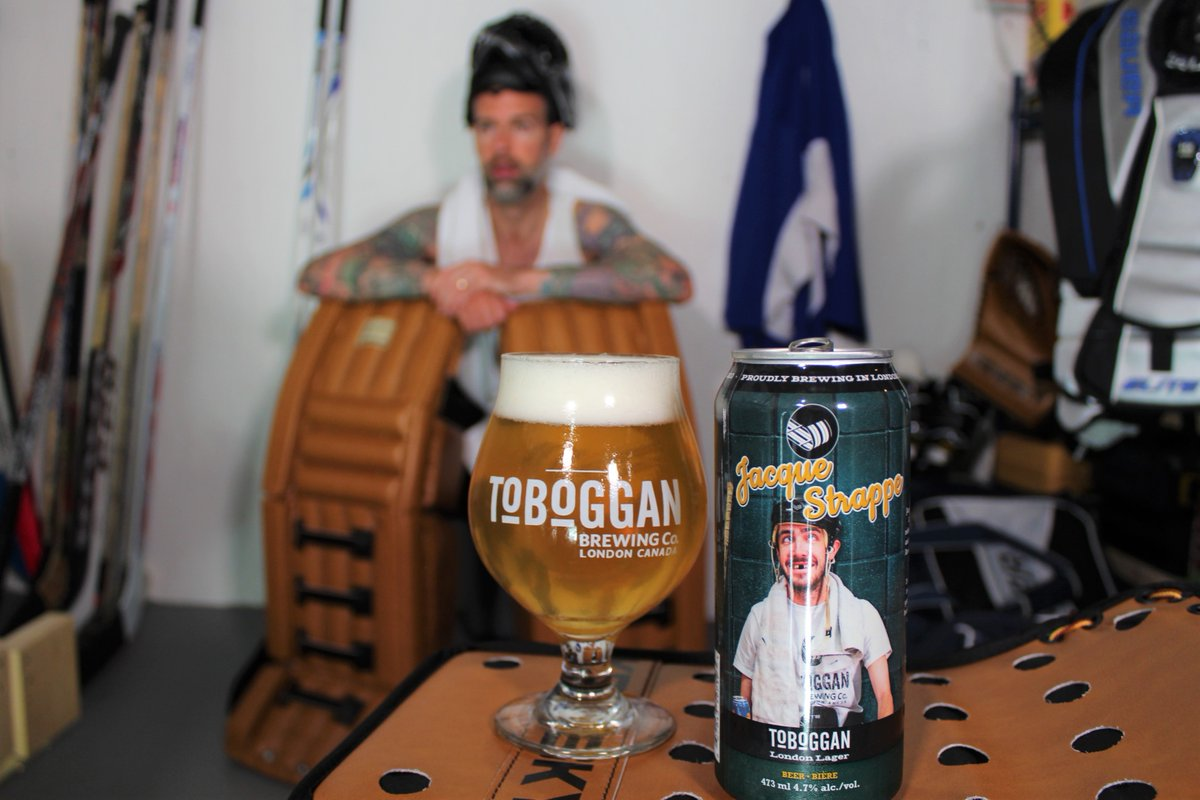 Jacque Strappe North American Style Lager from @TobogganBrewery is a perfect post-game beer. Or in this case, it's the perfect beer for 8 am on Saturday morning after trying to make your basement look like a locker room for a beer photo. What am I doing with my life?! #priorities https://t.co/J5oKzLaSD6