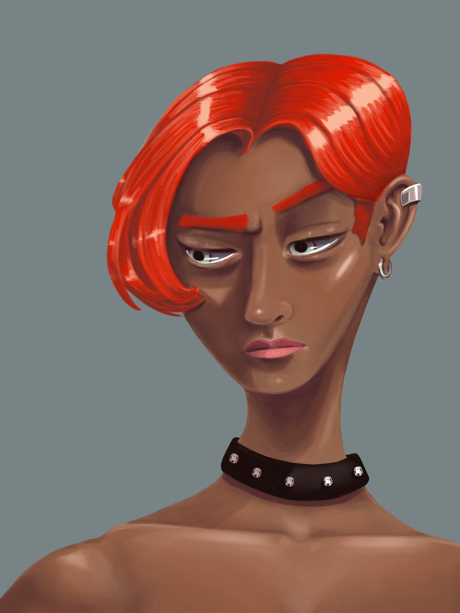 Wanted to paint some red hair   #characterdesign #character #characterart #portrait #digitalart #illustration #conceptart #artist #artistsontwitter #procreate #digitalpainting #characterportrait #portraitart #visdev #illustrator #process #artprocess #sketch https://t.co/M1leyWDZnW