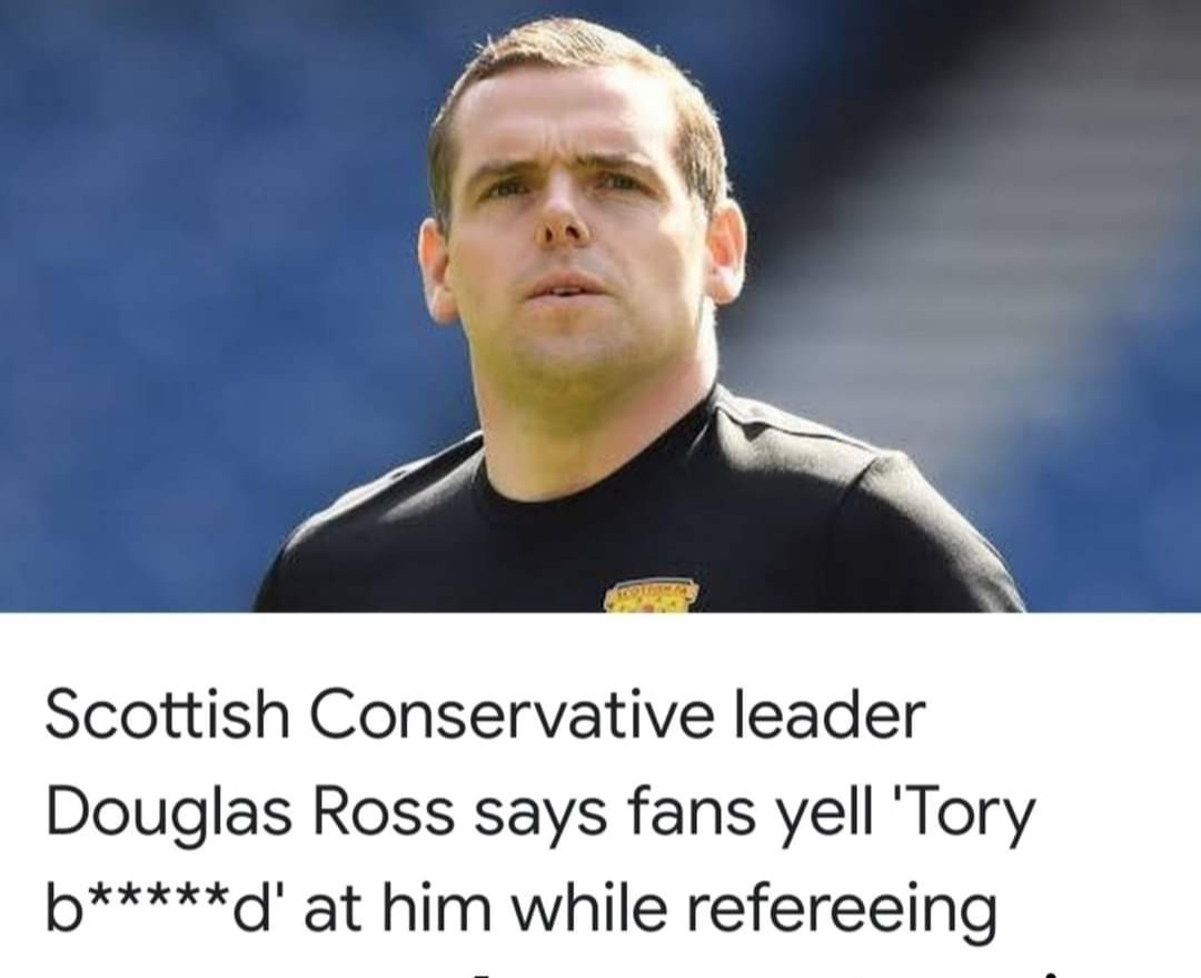"There's no fans at matches now. Maybe he's just hearing his conscience scream ""Tory Bastard!"" from the bottom of the Buffalo Bill style pit he put it in as a friendless boy. #ScottishToryIsAnOxymoron #indyref2 #dross #TheRefereesAWanker https://t.co/AIiTjRPWeY https://t.co/Ck3RsXQhsb"
