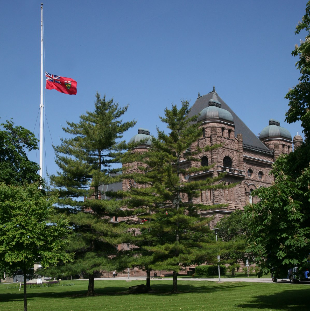 The flags have been lowered to Half-mast from sunrise to sunset today at the Legislative Assembly of Ontario in recognition of Police and Peace Officers National Memorial Day