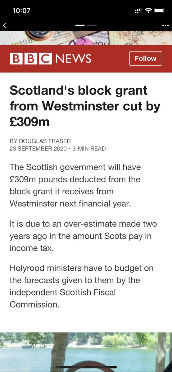 WM tried to strip Scotlands budget by £7 billion a few years ago, what they couldn't do by negotiation they're now doing by making up figures. WM starving Scotland to cushion the sth east. #indyref2 #brexit #disolvetheunion https://t.co/3f0rSISnoH