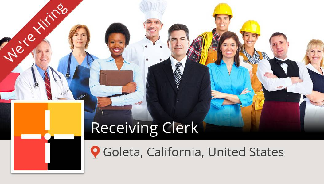 #Spherion is hiring a #Receiving #Clerk, apply now! (#Goleta) #job https://t.co/ykXp5liyMA https://t.co/rpRQF340Xs