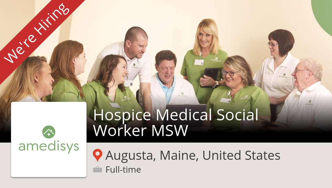 #Amedisys is looking for a Hospice Medical #Social #Worker MSW, apply now! (#Augusta) #job https://t.co/slma3rc5My https://t.co/5Exp7AjNJy