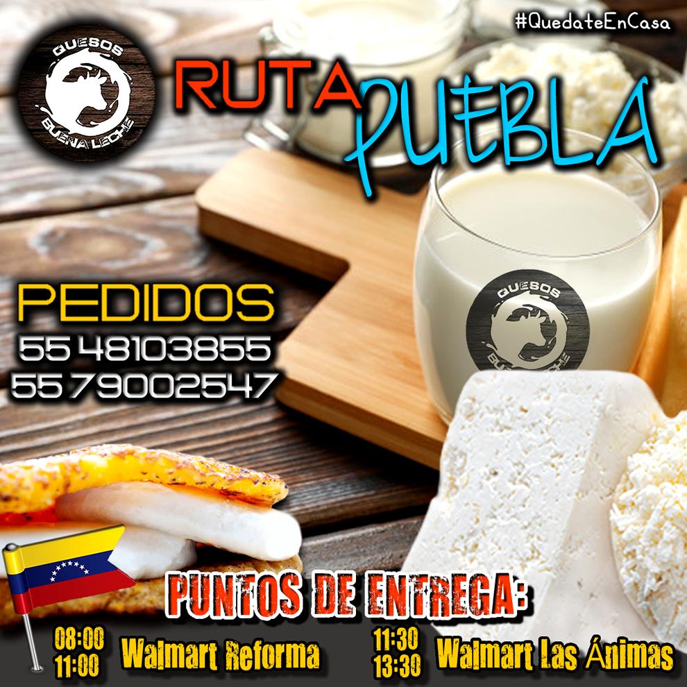 Buenos días Paisanos #venezolanos! Felíz Sábado #venezolanosenmexico #venezolanosendf #Puebla Próximo Sábado 03 de Octubre @quesobuenaleche estará con ustedes. Ya estamos recibiendo sus pedidos y los mejores #tequeños y #pastelitos de @DonTeque1980 #VENEZOLANO #QuedateEnTuCasa https://t.co/4ETuUrtSvs