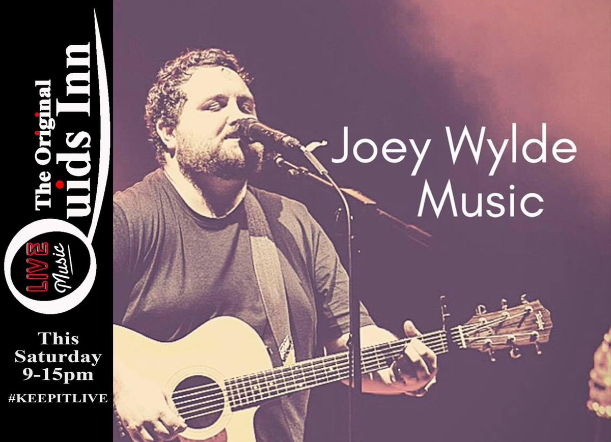 #LIVEMUSIC tonight at Quids Inn,  @joeywyldemusic is here from 9-15pm Great original acoustic music, and some of the best unusual covers from an amazingly talented guy. So looking forward to a great debut, don't miss this one music lovers.  #SupportLocalMusicians  #KEEPMUSICLIVE https://t.co/8AzPENhcJY