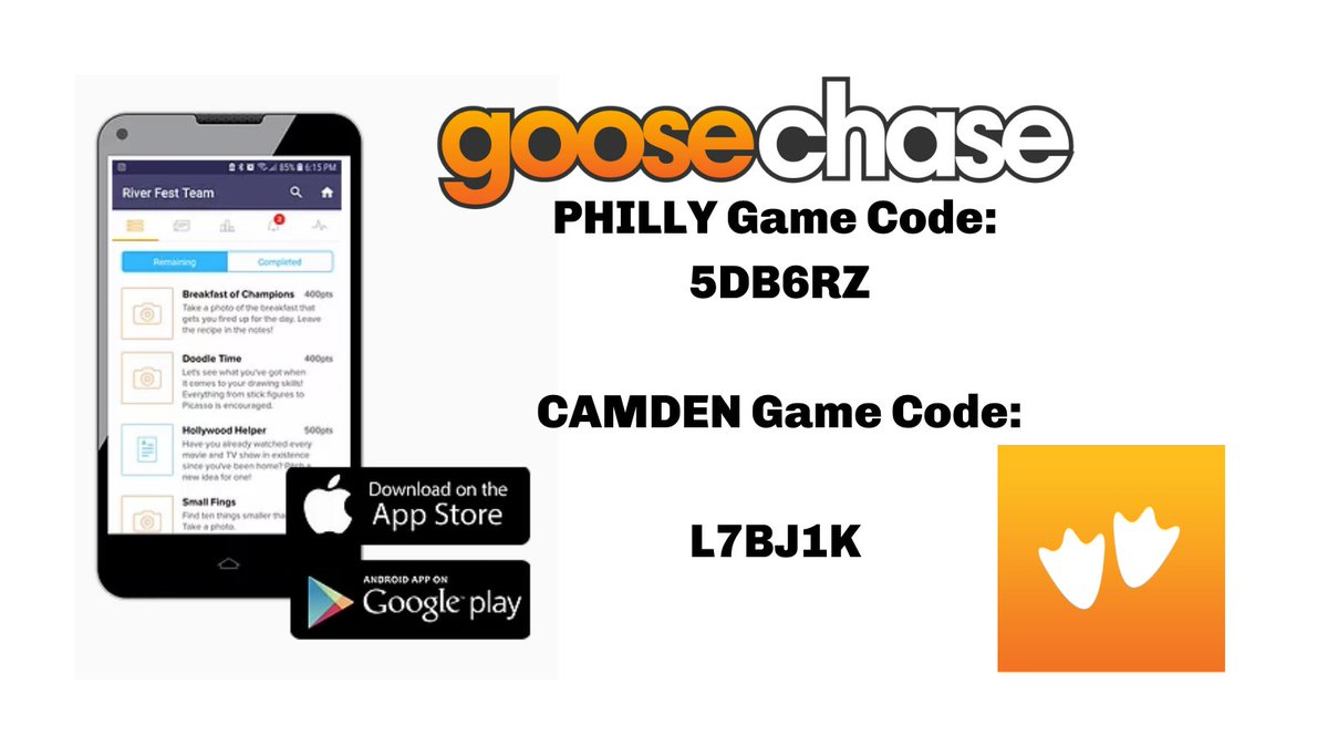The rain is heading out, find yourself in nature and win cool prizes. Download the Goose Chase app to join our Scavenger Hunt! Full instructions on how to join on our website.   https://t.co/KGlBlmrjGm  #goosechase #findyourselfinnature #scavengerhunt #PA #NJ #Philly #camden https://t.co/rxMIO4k1kS