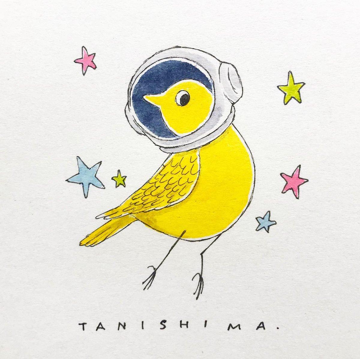 初めて宇宙に来たはずなのに なんか懐かしいのは なんでかな #tanishima #drawing #pendrawing #art #cartoon #comic #mascot #character #sketch #illustration #design #ラクガキ #ペン画 #イラスト #キャラクター #アート #スケッチ #働く小鳥 #smallbird #小鳥 #宇宙飛行士 #astronaut https://t.co/VJqaZmmwHI