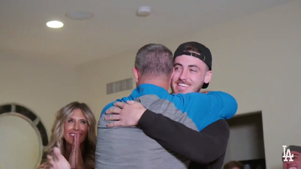 MVP.  Go behind the scenes with #BackstageDodgers as @Cody_Bellinger receives his MVP Award. Watch the full episode on https://t.co/ddAWW1G6J7. https://t.co/Q8Dod6gA80