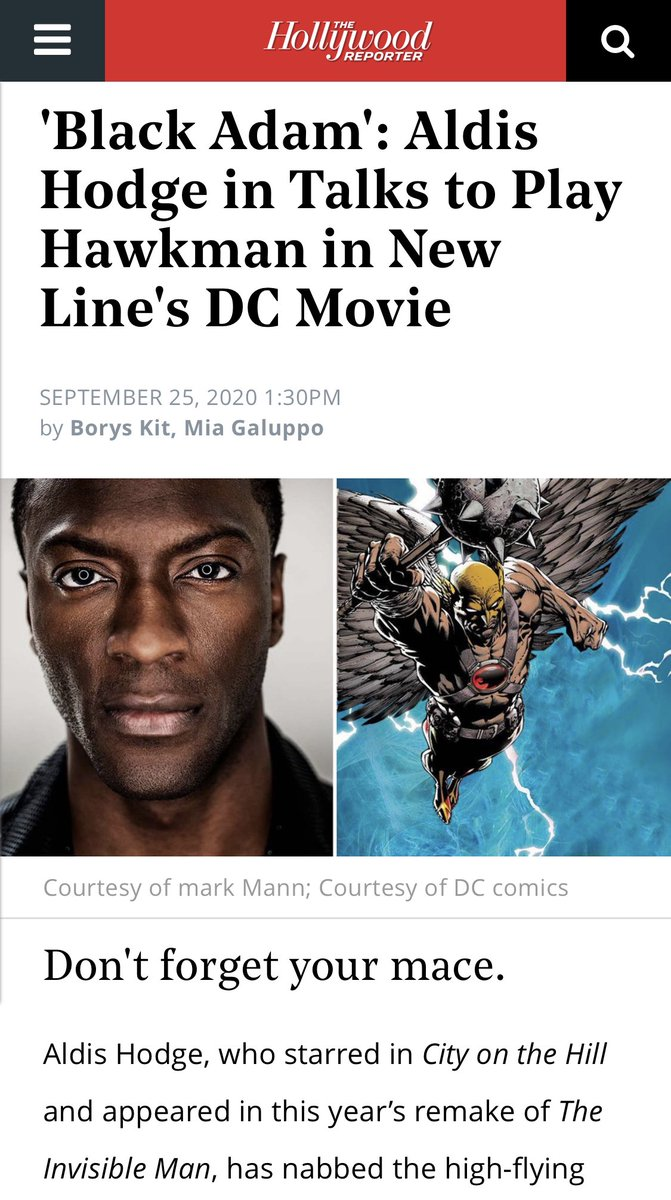 And then... this happened!💥 Huge congratulations to @AldisHodge or should I sayyyy #Hawkman 🦅