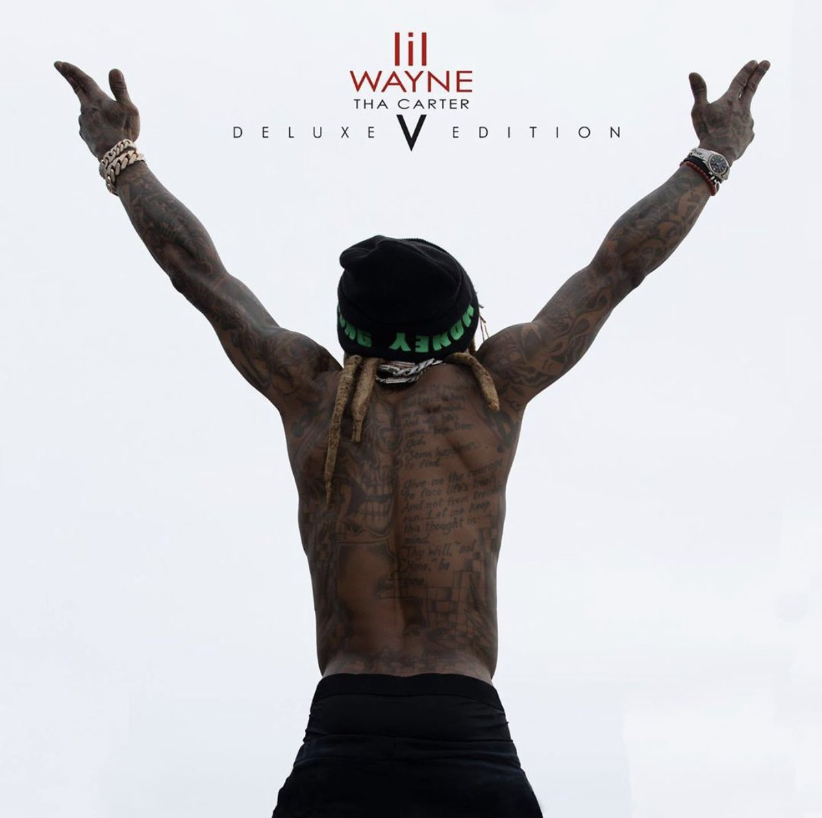 """#LilWayne recently dropped the deluxe version for """"Tha Carter 5"""" album. Y'all liking it so far?!👇🎵 @LilTunechi https://t.co/FHY6OCRtn7"""