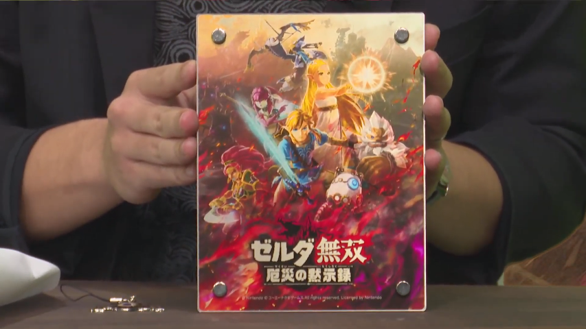 Nintendo Wire On Twitter The Koei Tecmo Team Have Shown Off The Japanese Hyrule Warriors Age Of Calamity Treasure Box Set Which Will Include An Acrylic Plate Metal Charm And Sail Cloth