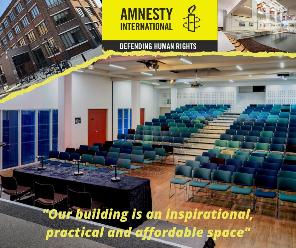 WE ARE OPEN AND TAKING BOOKINGS NOW! 🏆  @AmnestyUK Spaces & Catering are available to book now!  ️Located at New Inn Yard EC2A 3EA  💼  Hire the Atrium, Conference Rooms & Auditorium for your events today  #meetings #events #corporate #seminars #lectures #discussions #training https://t.co/kbYYqFgnB9