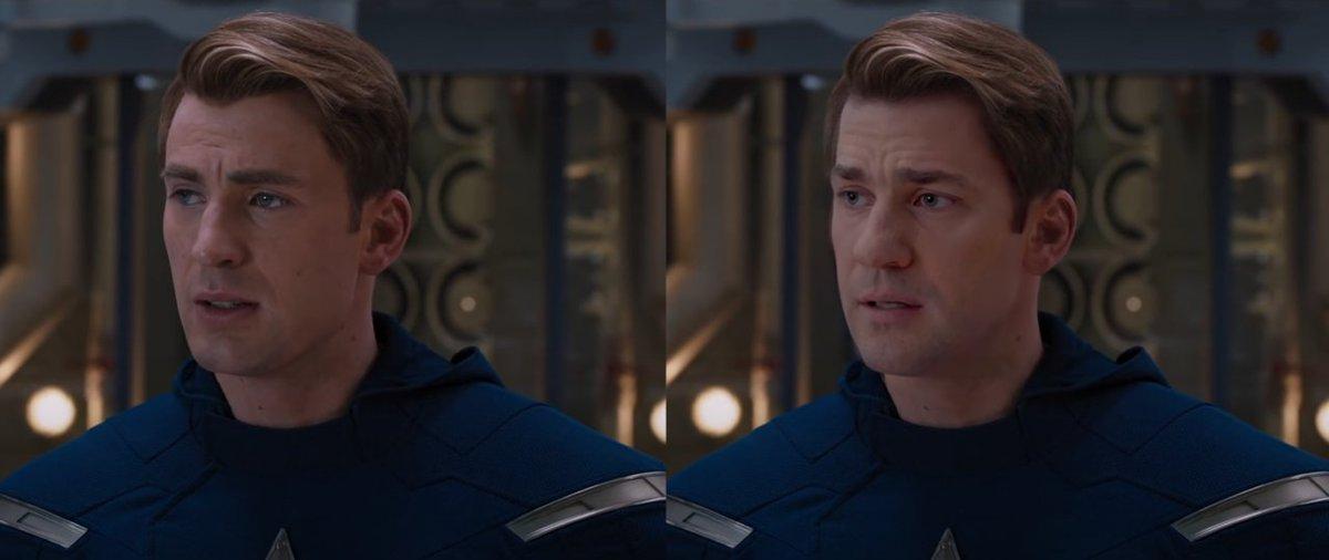 This wild 'Avengers' deepfake imagines John Krasinski as Captain America.