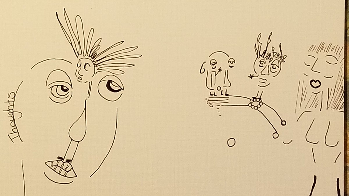 """""""Options"""" --by me 25 Sept 2020  #Ink #ArtistOnTwitter #Psylicibin #Drawingoftheday #Passion https://t.co/ub1d5tRGgs"""