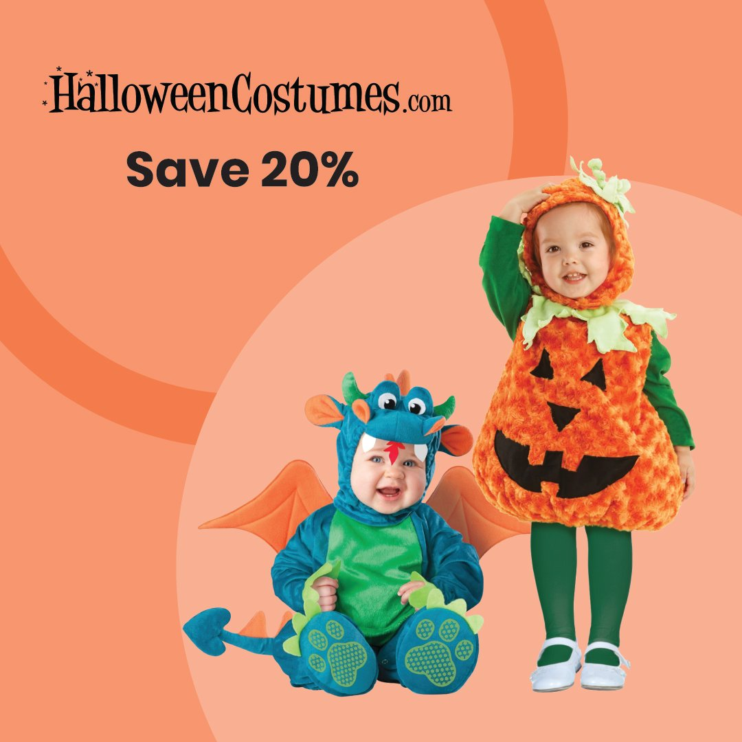 It's Sale-Of-The-Day Saturday. Have you started thinking about your Halloween costume idea yet? Get 20% off NOW so it ships in time!  20% Off Your First Order When You Join the Costume Club Today https://t.co/uVHdxixh32 https://t.co/Bj3kne0iAc