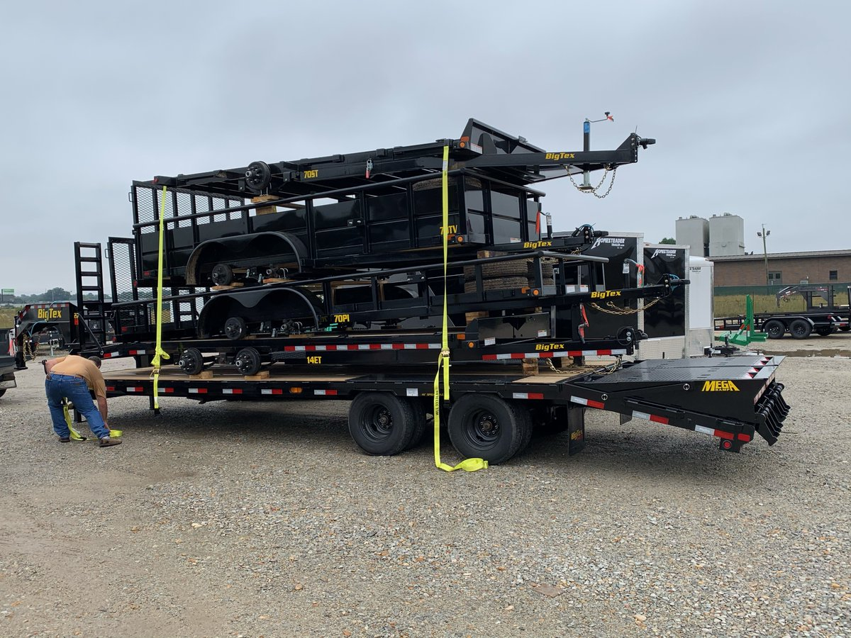 THIS JUST IN❗  Brand new Big Tex Trailers just arrived and are ready for you to drive off the lot. Call or text us at 870 330 9133 today.  #bigtextrailers #bigtex #newtrailers #trailers #utilitytrailer #silvermoontrailer #haulitall #newinventory #arkansas #missouri #tennessee https://t.co/CUDI9XrYyQ