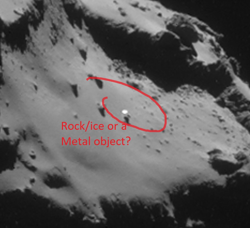 Metallic UFO hovering above Comet 67P/Churyumov-Gerasimenk . #podcast #thecloaked #WEIRD #Bizarre #ghost #mysteries #Paranormal #Strange #unexplained #phenomena #extraterrestrial #encounter #ancient #aliens #ufo #ufos #alien https://t.co/ydstjMnLF9