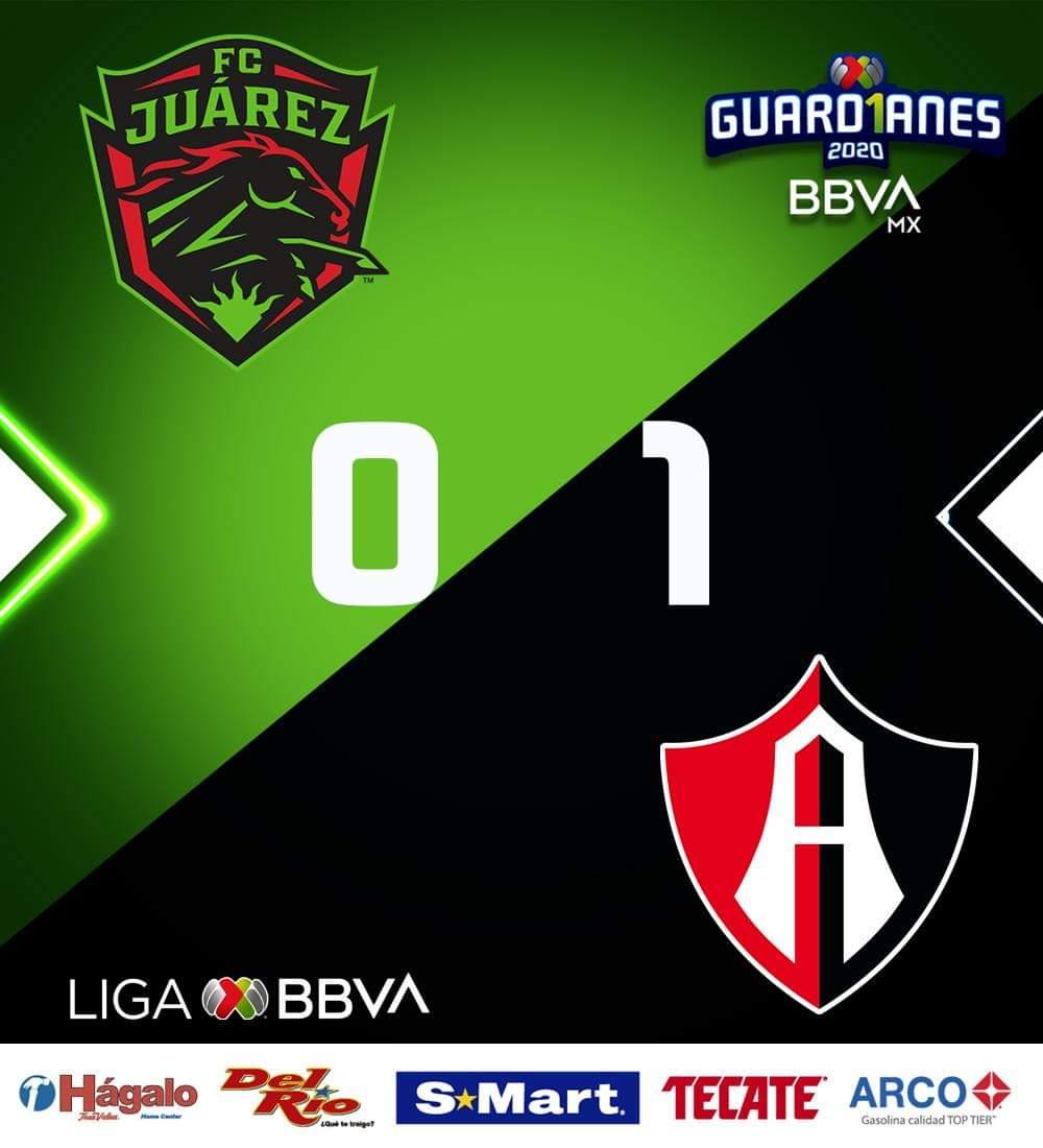🐴 vs 🦊 | @AtlasFC se impone 0-1 a @FCJuarezOficial en el Estadio Olímpico Benito Juárez.  #JuárezEsElNumberOne | #LateConFuria https://t.co/UKxppojdOj