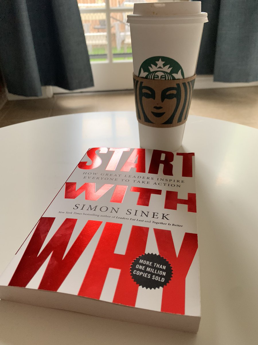 Good morning! Starting off my weekend reading @simonsinek, drinking an #americano. Excited to have my brother and sister over for a bbq today. Make a great day today! #SaturdayMorning #SaturdayThoughts #SaturdayMotivation  #SaturdayVibes https://t.co/UrsukMli9e
