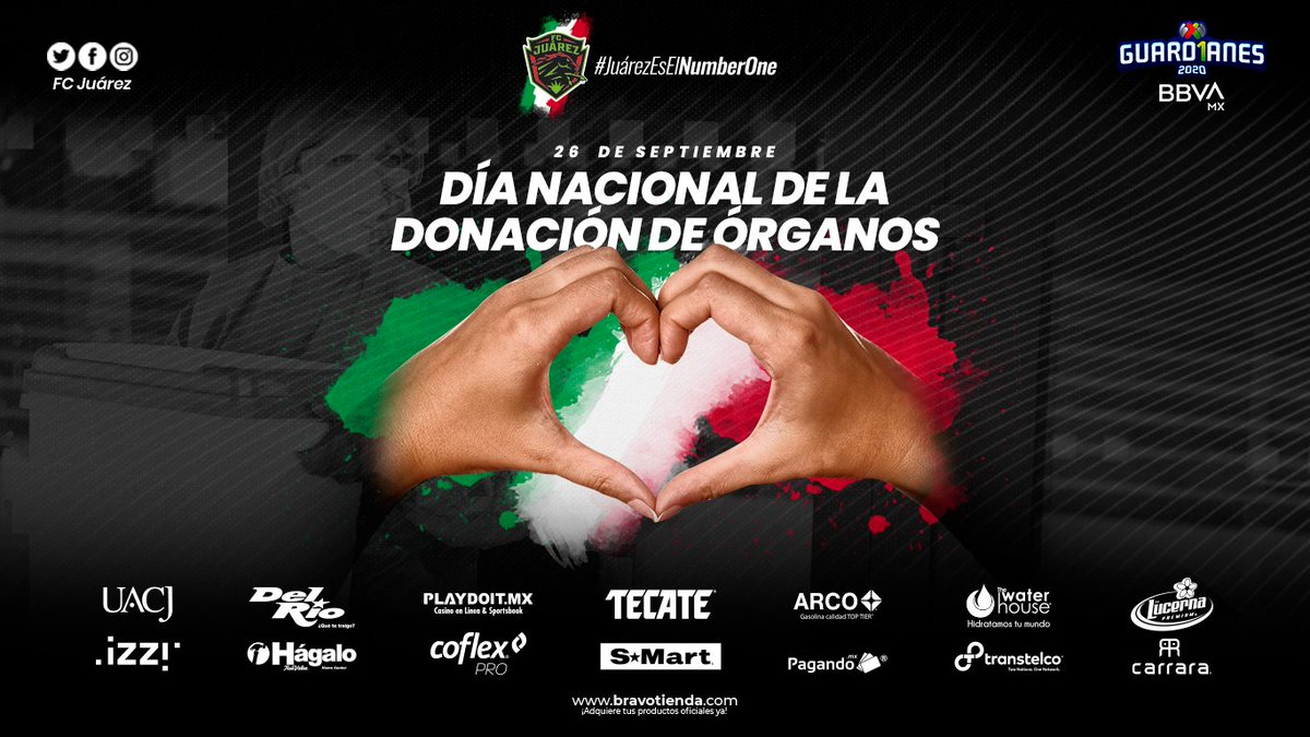 🐎💚 / 26 de Septiembre, Día Nacional de la Donación de Órganos.  #JuárezEsElNumberOne https://t.co/xVpafloqwl