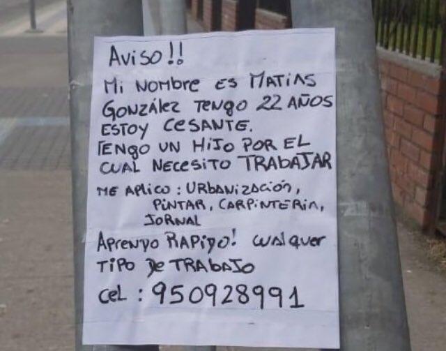 Acá en Concepción... un joven que tiene la fuerza y las ganas. No pide nada gratis... solo trabajar. 🥰 Ayuden con un RT 🙏 @indignadobiobio https://t.co/IKYp2bwh55