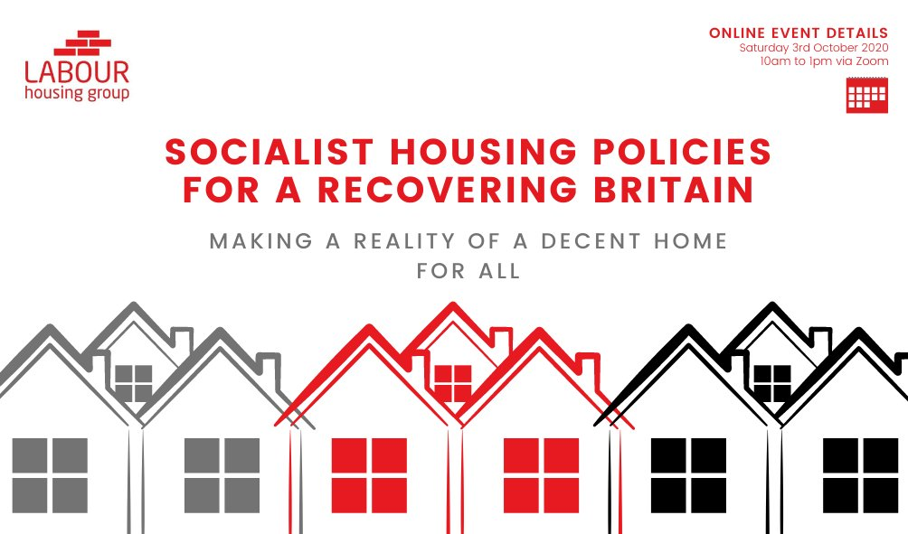 Socialist Housing Policies 🏘️ for a Recovering Britain 🇬🇧  🌹Making a Reality of a Decent Home For All🌹  Sign-up for our online conference via the link below!   📲https://t.co/aX6X1r1qHe https://t.co/DcAKL1GhOt