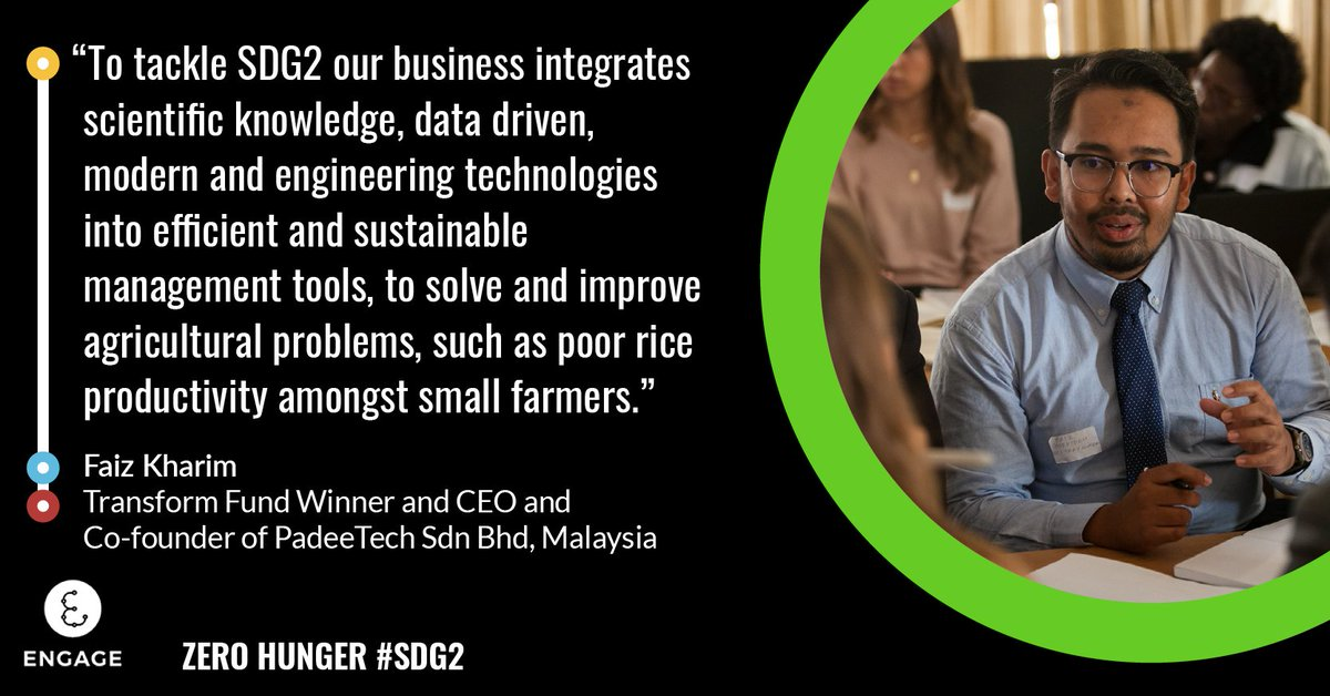 Transform Fund winner, @FaizKharim, is helping to tackle #SDG2 with @padeetech. 🌽 PadeeTech Sdn Bhd creates technology that improves agricultural productivity in developing countries. Read more about his incredible work ➡️: fal.cn/3az6q