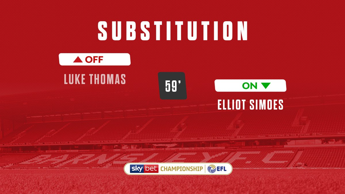 🔃 Second substitution for the Reds. https://t.co/fuQC2NRa0v