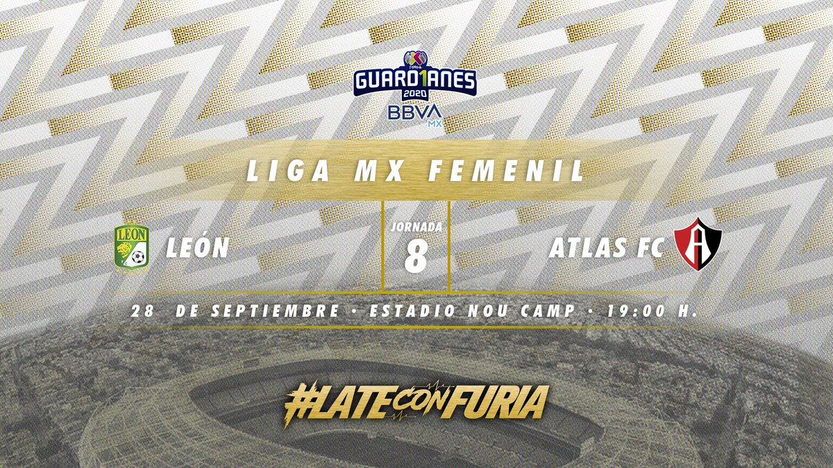 ¡Las Rojinegras en el #MondayNight! 😍  𝐽𝑜𝑟𝑛𝑎𝑑𝑎 | 8 𝑅𝑖𝑣𝑎𝑙 | @clubleonfemenil 𝐹𝑒𝑐𝘩𝑎 | 28 de septiembre. 𝐻𝑜𝑟𝑎𝑟𝑖𝑜 | 19:00 H. 𝑆𝑒𝑑𝑒 | Estadio Nou Camp.  #LateConFuria https://t.co/cpgBryFukF