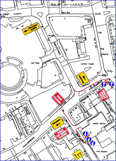 test Twitter Media - ❗ Change to roadworks layout at Fountainbridge / Semple Street from 7am Tues 29 Sept.  Fountainbridge closed eastbound after Ponton Street.  A diversion will be signed via Gardner's Crescent but drivers may wish to use the West Approach Road as an alternative route  #edintravel https://t.co/KmdpjBm38x