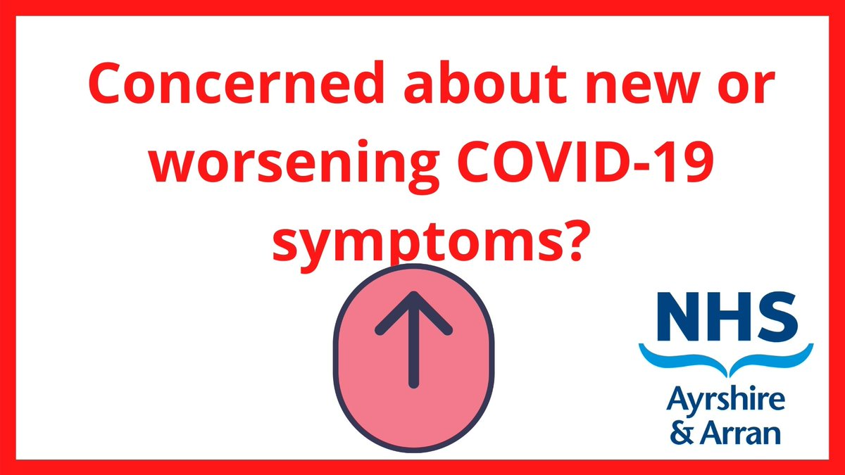 Concerned about new or worsening COVID-19 symptoms? Ensure you know the right place to go.  • NHS Inform – for advice and to book a test. • Call 111 if symptoms worsen. • If you have a medical emergency call 999. https://t.co/m02ib3fRi2
