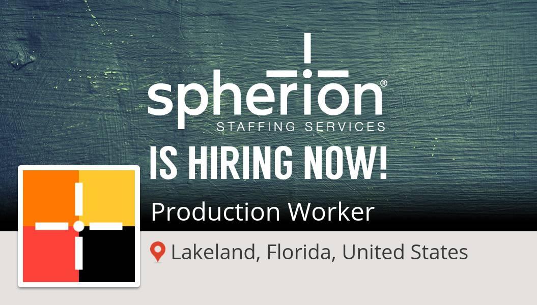 #SpherionStaffingLakelandFlorida is looking for a #Production #Worker in #Lakeland, apply now! #job https://t.co/uuGQl2DlNM https://t.co/6frbLBB0s2