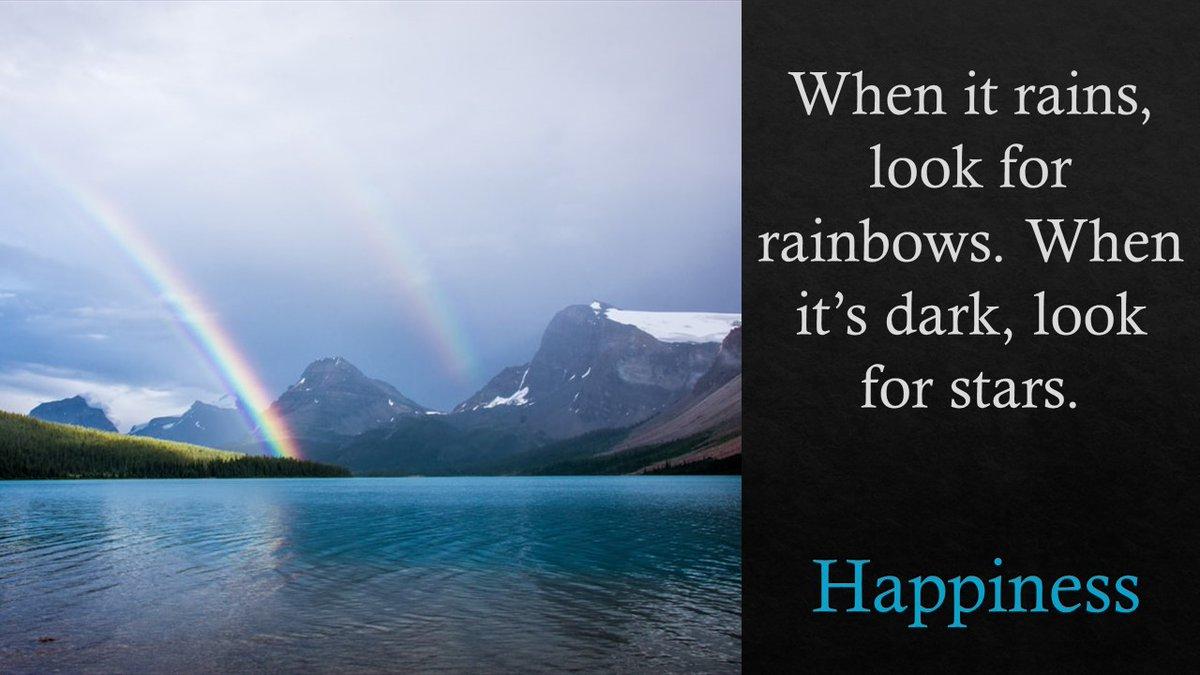 When it rains, look for rainbows. When it's dark, look for stars. #innovation #Career #Accounting #audit #ThinkBIGSundayWithMarsha #technology #fintech #QOTD #accountspayable #womeninbusiness #womeninSTEM #happy https://t.co/6q1AYkZvyi