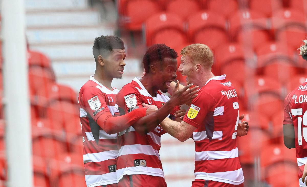 FULL TIME | Rovers 4-1 @Official_BRFC.  Goals from Richards and Taylor secure three points in @SkyBetLeagueOne for the hosts after an impressive display.  #DRFC #DONBRI https://t.co/yTdsm8Q0M8