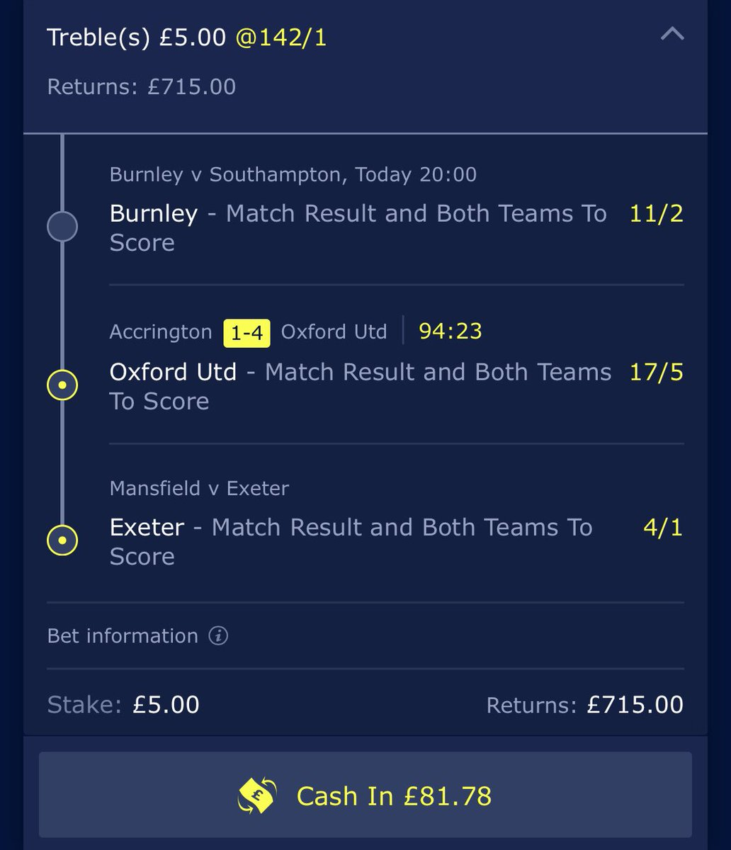 Well... this could make my evening. Almost wish this was the 5:30 game! 🤣 COME ON! #BURSOU #Acca #BookieBashing 👍🏻💰🎣👊🏽🤞🏻 https://t.co/S5PSAhqp2E