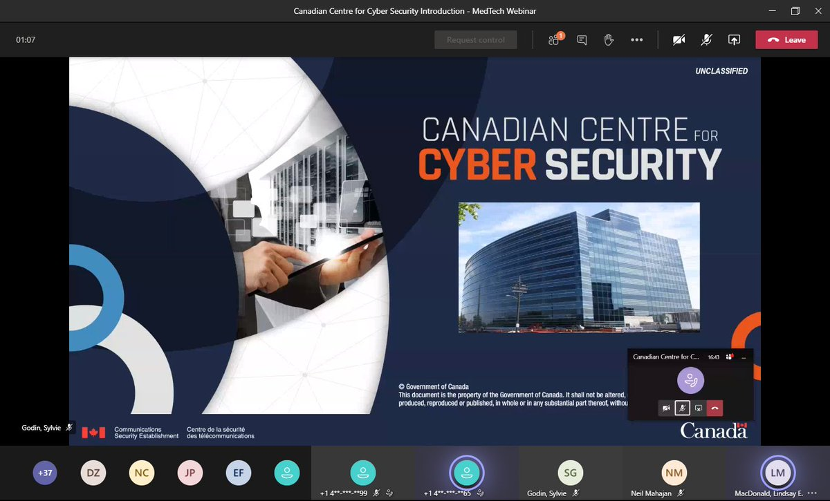 Earlier in the month, with fellow #MedicalDevice @Medtech_Canada #Regulatory peers, I had the privilege to engage with the @cybercentre_ca, a part of @cse_cst, the national Canadian authority on #CyberSecurity. As our #MedTech grows more complex so must our tech capabilities. 1/4 https://t.co/qcaFHpeKUn