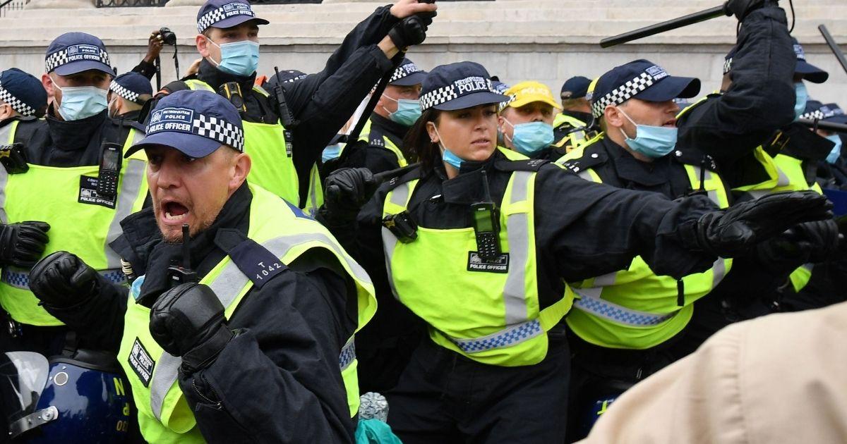 Антикоронавирусные протесты в Лондоне. 26.09.2020