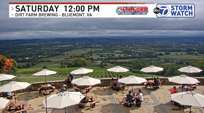 What a view from @DirtFarmBrewing this afternoon! Just enough sun at the moment for outdoor seating, but dark skies loom across the horizon #vawx https://t.co/ZB7xUq1bHv