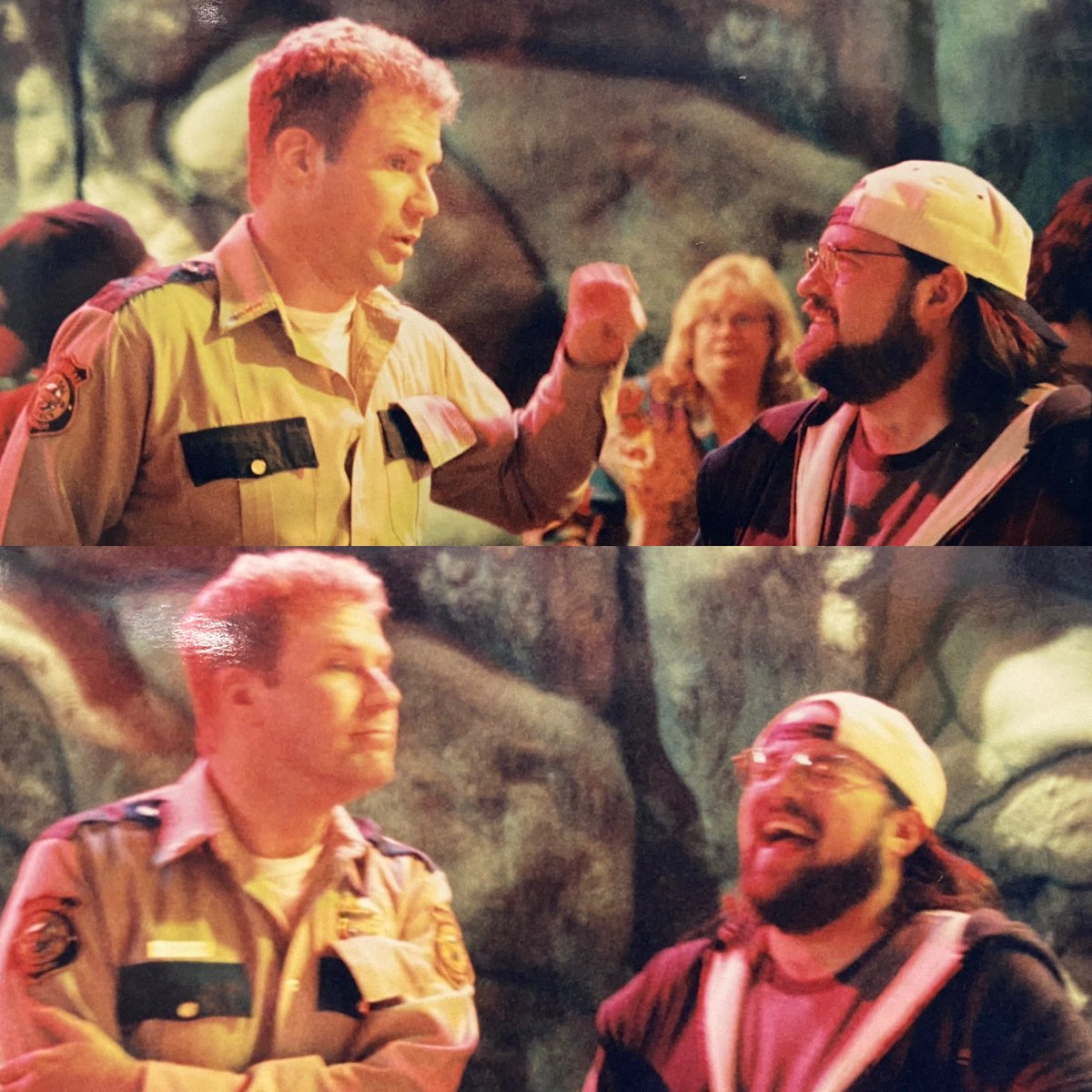 Since the news is depressing and the future seems so chillingly uncertain, here's what I'm drawing strength & inspiration from today: picture proof of how hard Will Ferrel made me laugh while we were filming Jay & Silent Bob Strike Back. Also: doing a new FAT MAN BEYOND tonight! https://t.co/o8kBxSQXXk