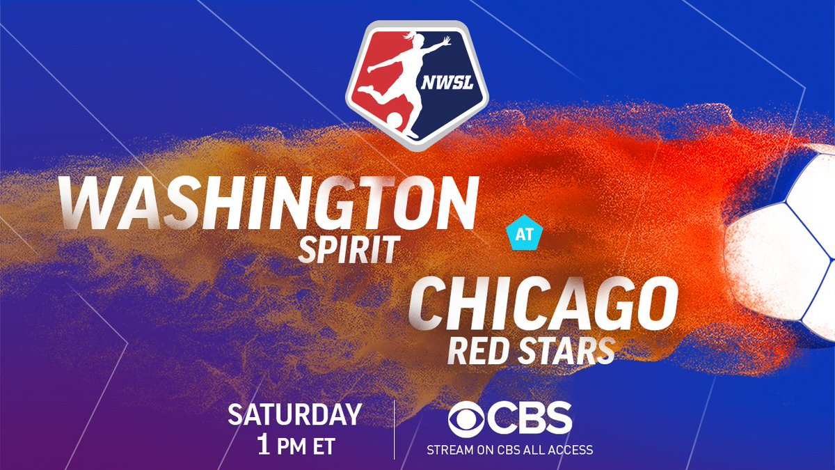 Get your Saturday started off right with some @NWSL action! The @WashSpirit square off with the @chiredstarsPR at 1:00 PM ET on @CBS!