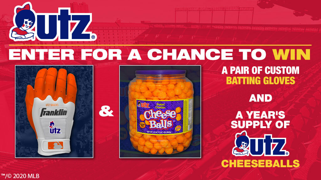 You could win a pair of custom batting gloves and a year's supply of cheeseballs! RT and go follow @UtzSnacks for your chance. Rules: https://t.co/8B1KwS4YkZ https://t.co/Zfmtiuc1gR
