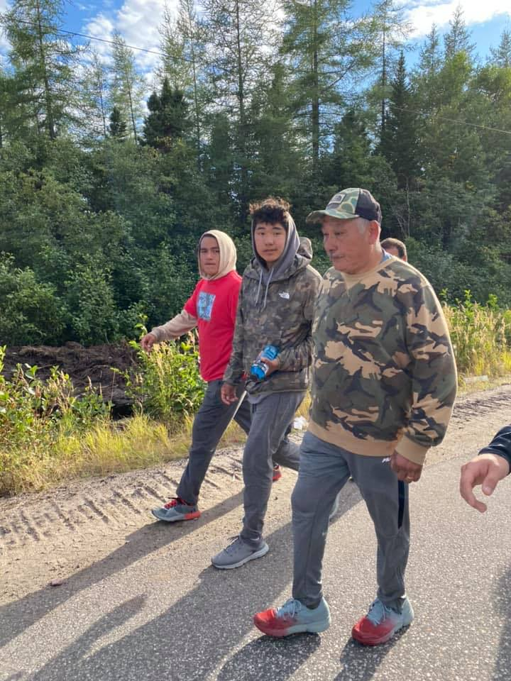 Aries Benuen, a 14 year old Innu hockey player from Labrador, is heading back to the Canadian International Hockey Academy in Ontario thanks to his grandfather.  Sebastian Benuen walked over 334 kilometres in nine days to fundraise his grandson's $41,900 tuition. https://t.co/YHKVXrhrQn