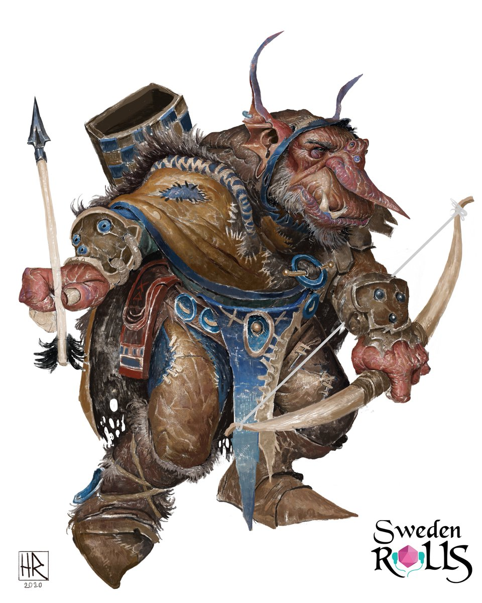 I had the absolute honor of painting the characters in the RPG podcast @SwedenRolls, go give it a listen, fantastic quality and great crowd of people! #fantasy #rpg #ttrpg #frialigan #2d #drawing #painting #dnd #goblin #human #halfling #character #rogue #warrior #druid https://t.co/wMA2LAXLm0