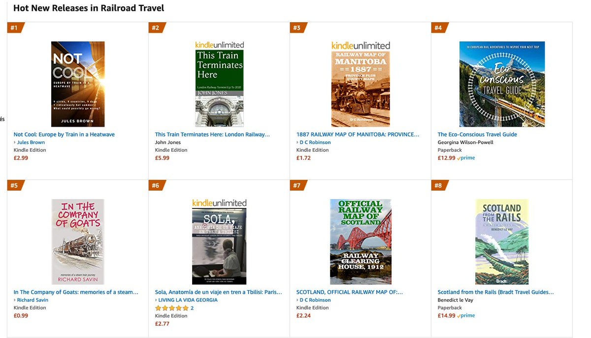 Number 1, Hot New Release! That's me, with Not Cool: Europe by Train in a Heatwave #train #rail #memoirs #railway #EuropebyTrain #travel #Kindle #book https://t.co/m8EsApri81