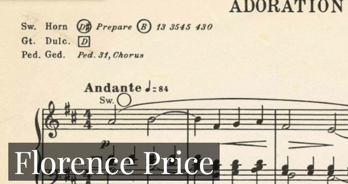 Florence Price was the first African American woman to receive national recognition for her accomplishments as a symphonic composer. View the Florence Price digital collection at https://t.co/YtJCKP2NDY #UARK #UARKLibraries #music #FlorencePrice https://t.co/bpUcNmYrqf