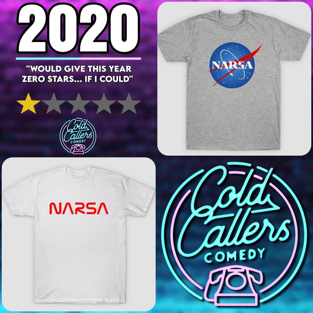 "In honour of the fact that 2020 sucks and @PaulRich_Actor can't pronounce ""NASA"", we have some new designs in our @TeePublic store!  https://t.co/iuh3mqE9Vo   #podcast #comedypodcast #comedy #podernfamily #britpodscene #podnation #PodcastHQ #merch #merchandise #merchstore https://t.co/CjqfbkwoVd"