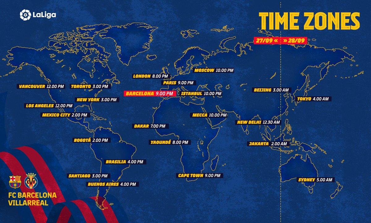 ⏰🌎📺  ¡Este domingo empieza @LaLiga para el Barça!  Ssigue el #BarçaVillarreal desde cualquier lugar del mundo https://t.co/3IsMzJBCyi