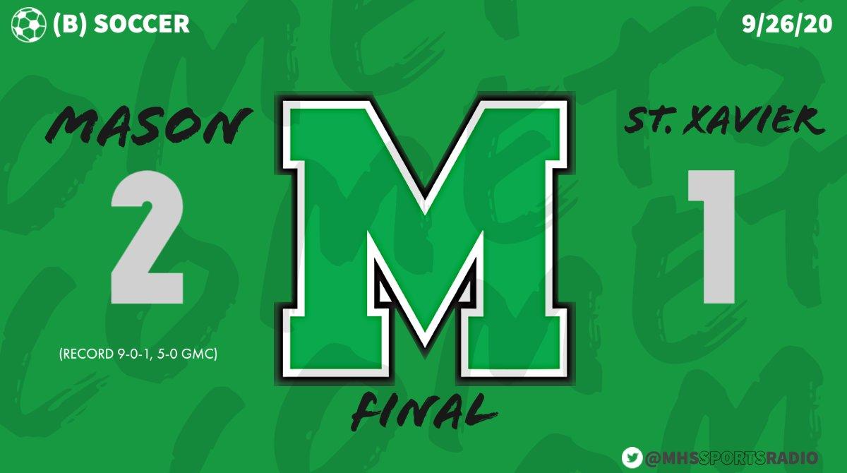 "FINAL SCORE REPORT: @Mason_M_Soccer win the ""W"" @gmcsports https://t.co/F5UG7KMYKB"